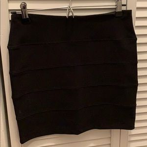 Black bandage mini skirt
